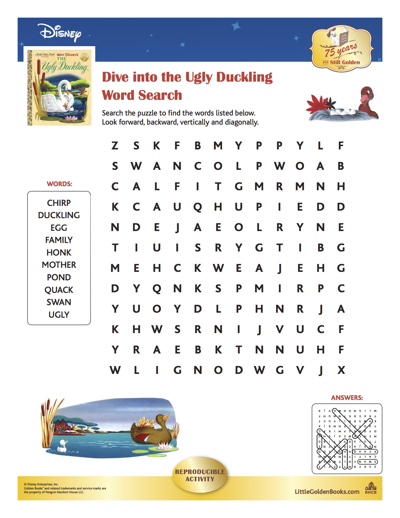 the ugly duckling words